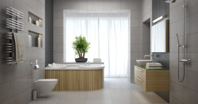 Bath with Trim Work and Paneling