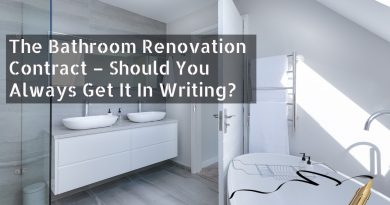 Bathroom Renovation Contract