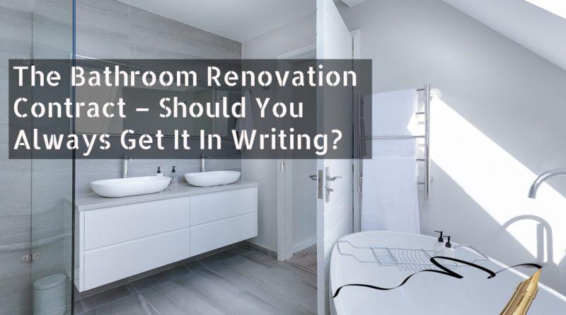 Bathroom Renovation Contract