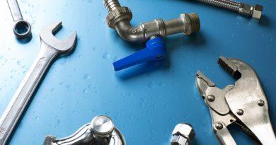 set of plumber tools