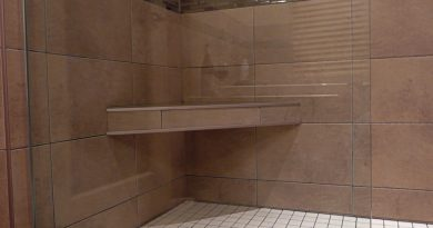 Tiled Corner Shower Seat Installation