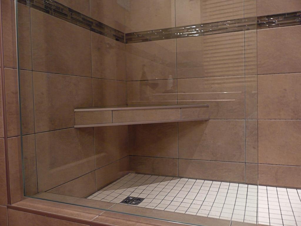 Tiled Corner Shower Seat Installation